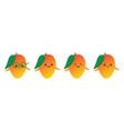 cartoon mango fruit characters vector image vector image
