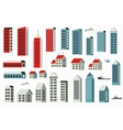City building set vector image