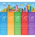 City infographics flat vector image
