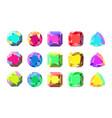 colorful gems flat design vector image