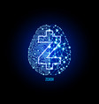 crypto currency zcash on brain background vector image vector image