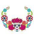day dead decoration sugar skulls vector image vector image