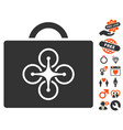 drone toolcase icon with lovely bonus vector image vector image