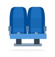 dual seats aircraft flat material design isolated vector image