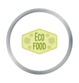 Eco-food icon in cartoon style isolated on white vector image vector image