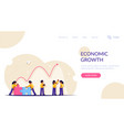 economic recovery after end financial vector image vector image