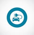 electro car icon bold blue circle border vector image vector image
