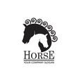 emblem horse heads vector image vector image
