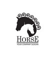 emblem of horse heads vector image vector image