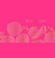 floral invitation color template vector image vector image