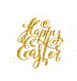 Happy easter banner with handdrawn calligraphy