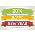 happy new year 2014 vector image vector image