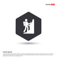 hiking icon hexa white background icon template vector image