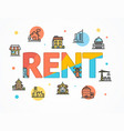 house property rental concept paper art vector image vector image