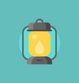 hurricane lamp icon flat design vector image vector image