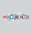 innovations technology creative word over abstract vector image vector image
