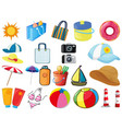 large set different objects on white background vector image vector image