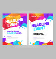 layout design template for event vector image vector image
