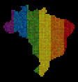 lgbt pixel brazil map vector image