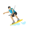 Man wakeboarding in action summer fun hobby vector image