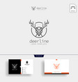 minimal deer outline or line art logo template vector image vector image