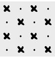 Minimal monochrome hand drawn pattern cross vector image vector image