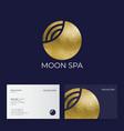 moon spa logo hotel spa emblems golden moon and vector image