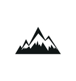Mountains web simple black icon on white vector image