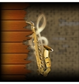 musical background blurred brick wall and wood vector image vector image