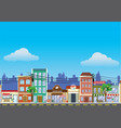 old building and shopping street market vector image vector image