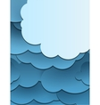 Paper cut clouds background vector image