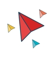 paper plane isolated icon vector image vector image