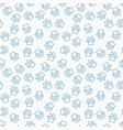 paw print line seamless pattern vector image vector image