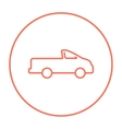 Pick up truck line icon vector image vector image