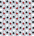 poker card theme pattern vector image