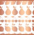 rose gold copper foil fruits pattern tile vector image vector image