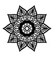 round black mandala on white isolated background vector image vector image