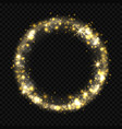 round shiny starburst effect with sparkles bokeh vector image