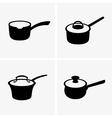 Saucepans vector image vector image