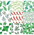 Set of 9 seamless hand drawn patterns vector image
