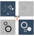 set of infographic templates with gears on grey vector image vector image