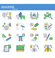 set of school and college education icons vector image vector image