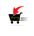 shopping icon color vector image vector image