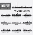 silhouettes cities of usa set 2 in grayscale vector image vector image