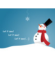 snowman with red scarf vector image vector image