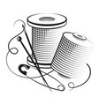 spools thread for sewing vector image