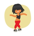 Sporty dancing beautiful teenager girl vector image vector image
