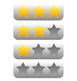star rating element with 3 stars vector image