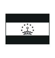 tajikistan flag monochrome on white background vector image vector image