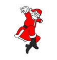 thin santa claus jumping like superhero vector image vector image